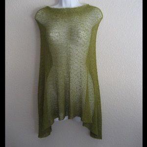 Beautiful Ulla Jacobson green sheer poncho
